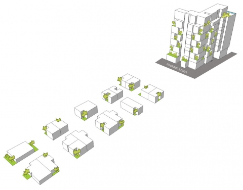 Allée Des Arts by Accent DG - stacking- boxes-concept