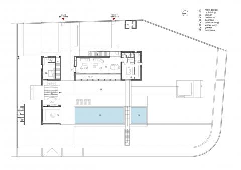 Adloun Villa - groundfloor plan