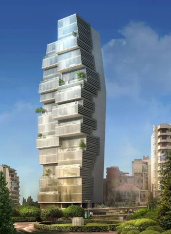 Beirut Observatory by Accent DG - view from Solidere