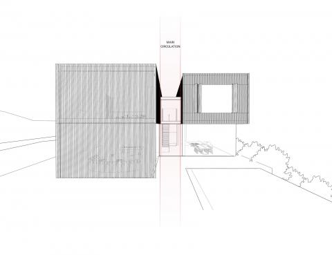 Bsalim Residence by AccentDG- side elevation