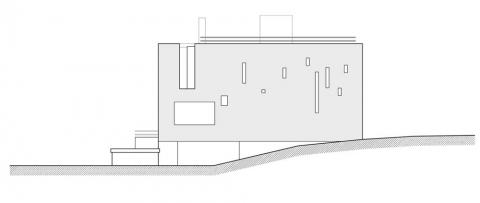 Villa 9 - south elevation