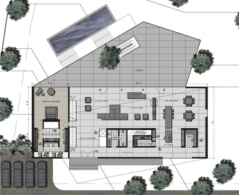 Villa EM by Accent DG - ground floor plan